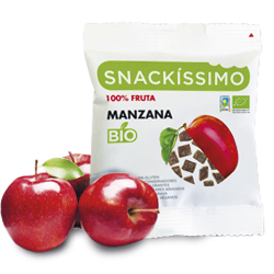 DisfrutaBox Accion Reaccion Snackissimo Bio Manzana