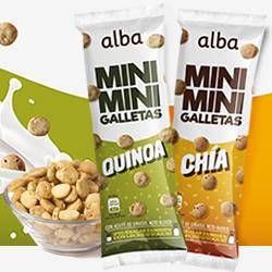 DisfrutaBox Castana Alba Horneados Galletas Mini MIni Chia y Quinoa