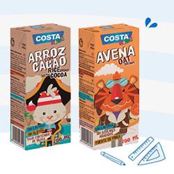 DisfrutaBox Hojear Costa Kids Mini Brik Avena y Mini Brik Arroz con Cacao