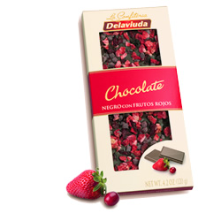 Chocolate negro frutos rojos Delaviuda DisfrutaBox