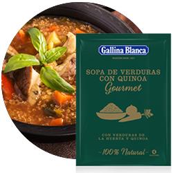 DisfrutaBox Sinfonia Nuevo Mundo Gallina Blanca Sopa Gourmet Verduras Quinoa