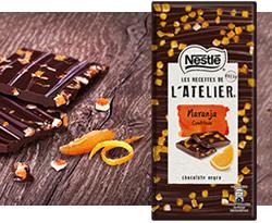 DisfrutaBox Dulce Molicie Les Recettes de l'Atelier Chocolate Negro con trocitos de piel de naranja