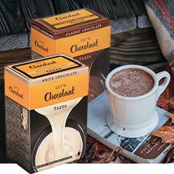 Tazza Blanco y Tazza Classic Lets Chocolaat en DisfrutaBox Desayuno con Diamantes