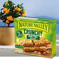DisfrutaBox Curso 18 Barritas Crunchy Avena y Miel Nature Valley