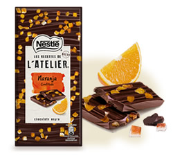 DisfrutaBox Sweet Home Tableta Chocolate Negro Naranja Confitada