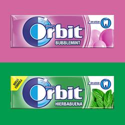 Chicles Orbit Sin Azucar Hierbabuena y Bubblemint