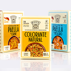 Colorante natural y Sazonadores de Paella POTE en DisfrutaBox REtrato en SEpia