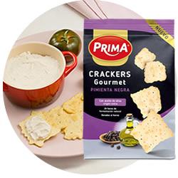 DisfrutaBox Delicatessen Crackers Gourmet Pimienta Negra Prima