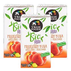 DisfrutaBox Efecto Mariposa TrueFoods Minibrik Melocotón y Uva Bio