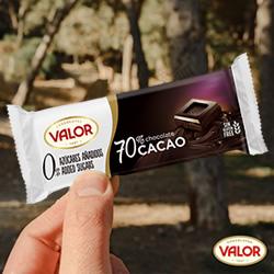 Tableta Chocolate negro 70% Sin Azúcar VAlor DisfrutaBox HOLI