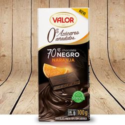 Disfrutabox Resumiendo Chocolate Negro 70 Naranja Valor
