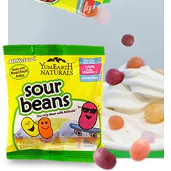 DisfrutaBox Sostener Sour Beans Grageas Acidas YumEarth